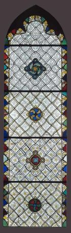 Grisaille stained-glass window, Rouen, France, c1320